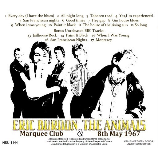Live marquee club , london 1967 ltd cd by Eric Burdon & The Animals, CD  with zorro800