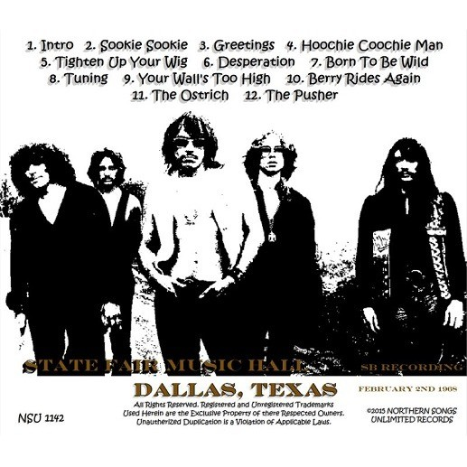 steppenwolf LIVE DALLAS TEXAS 1968 FEBRUARY 2ND LTD CD