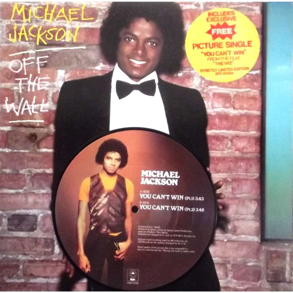 off the wall picture disc single 7 michael jackson lp 7