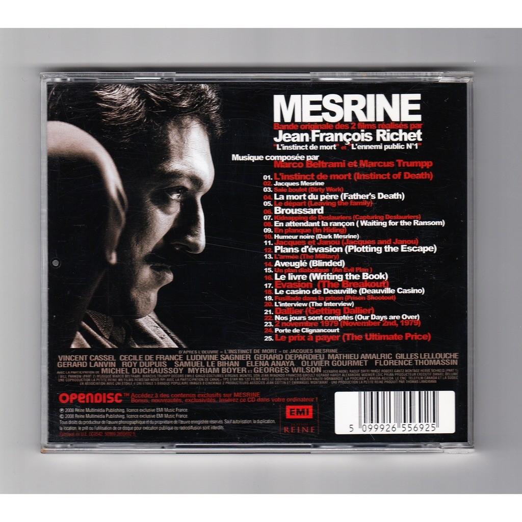 marco beltrami & marcus trumpp Mesrine - Bande Originale