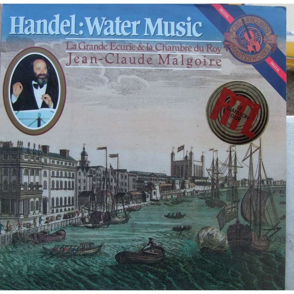 Handel : water music by Jean-Claude Malgoire, LP with mabuse - Ref ...