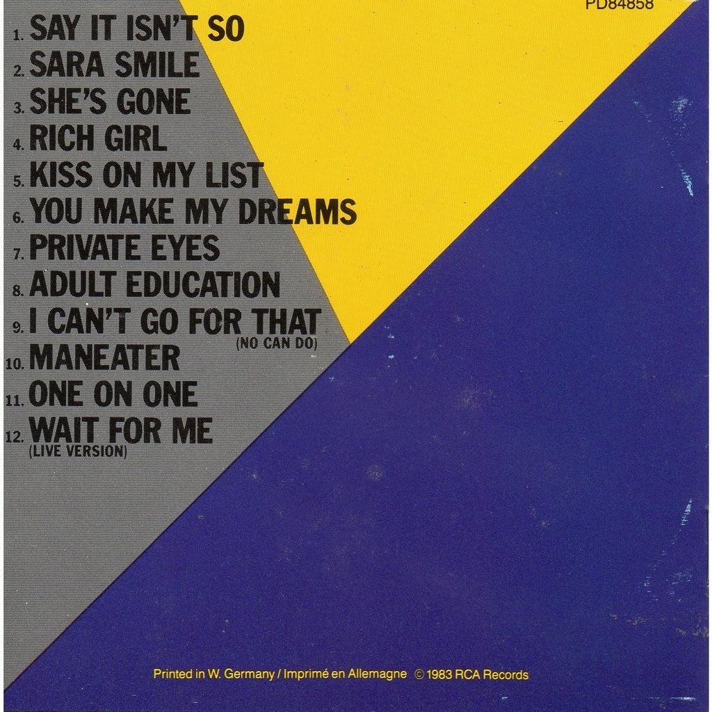Greatest Hits Rock N Soul Pt 1 Daryl Hall John Oates: Greatest Hits Rock'n'soul Part 1 By Daryl Hall & John