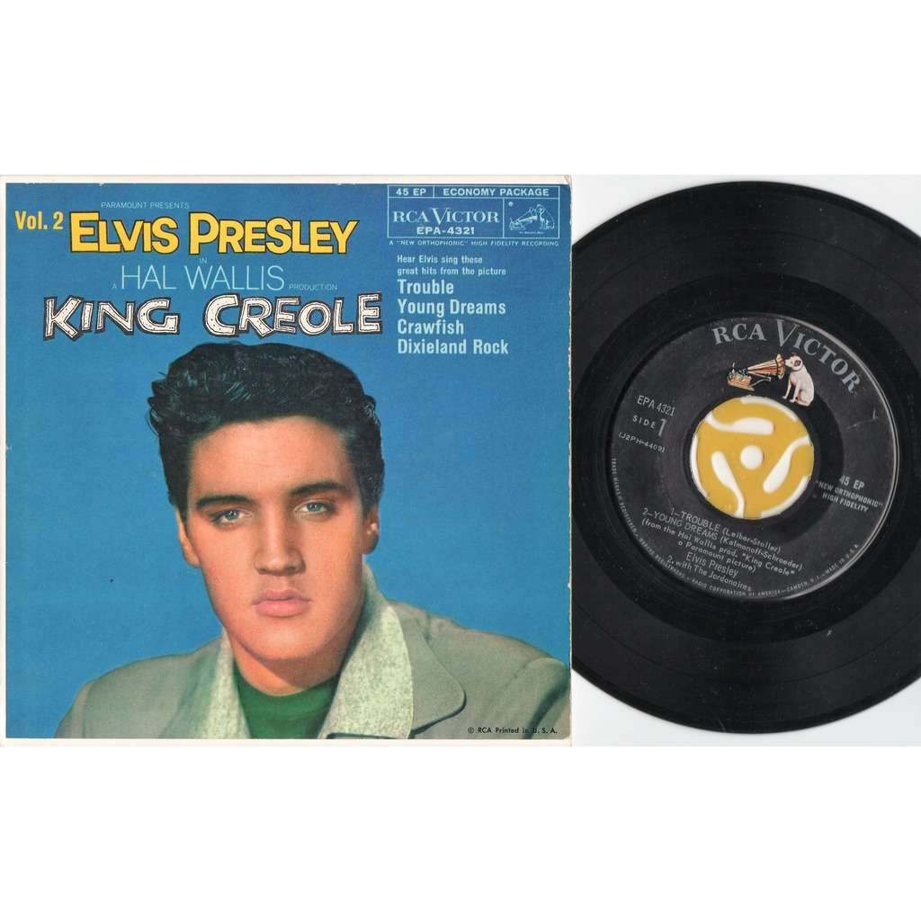 50f3f67a1a2 King creole vol.2 (usa 1958 original 4-trk 7ep unique card ps) by ...