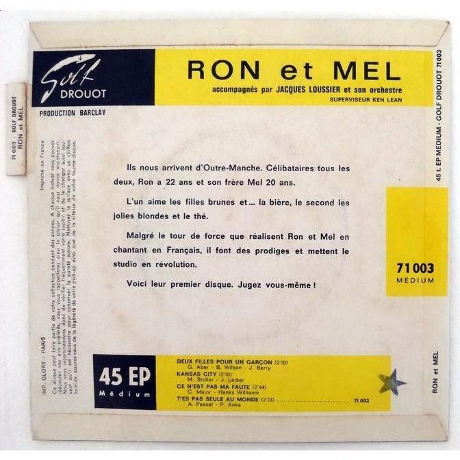 RON & MEL DEUX FILLES POUR UN GARCON