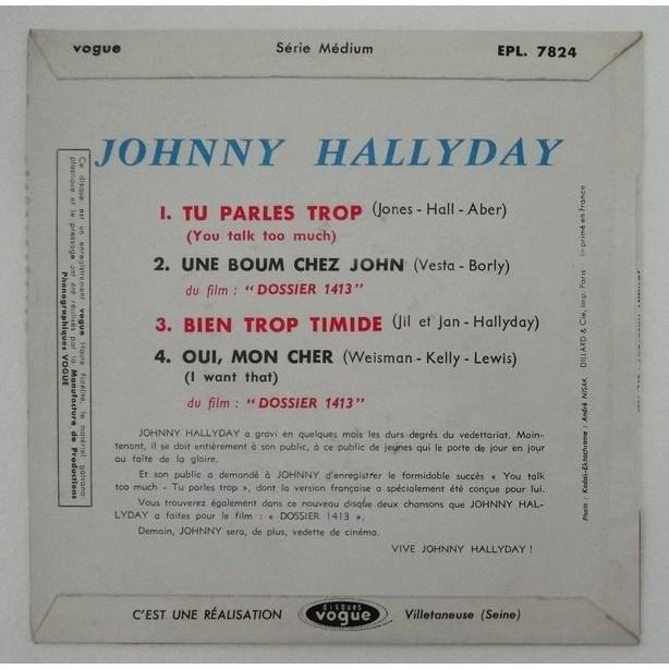 JOHNNY HALLYDAY TU PARLES TROP