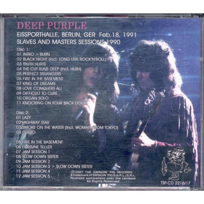 Deep Purple Slaves & Sessions (Eissporthalle Berlin DE 18.02.1991 etc.)