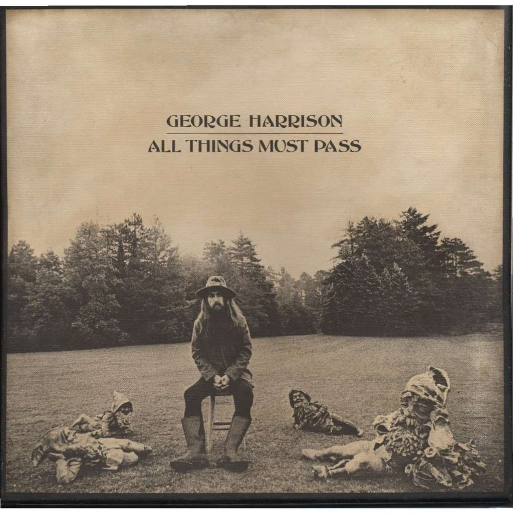 GEORGE HARRISON All Things Must Pass Pressage France French Pressing LP X 3