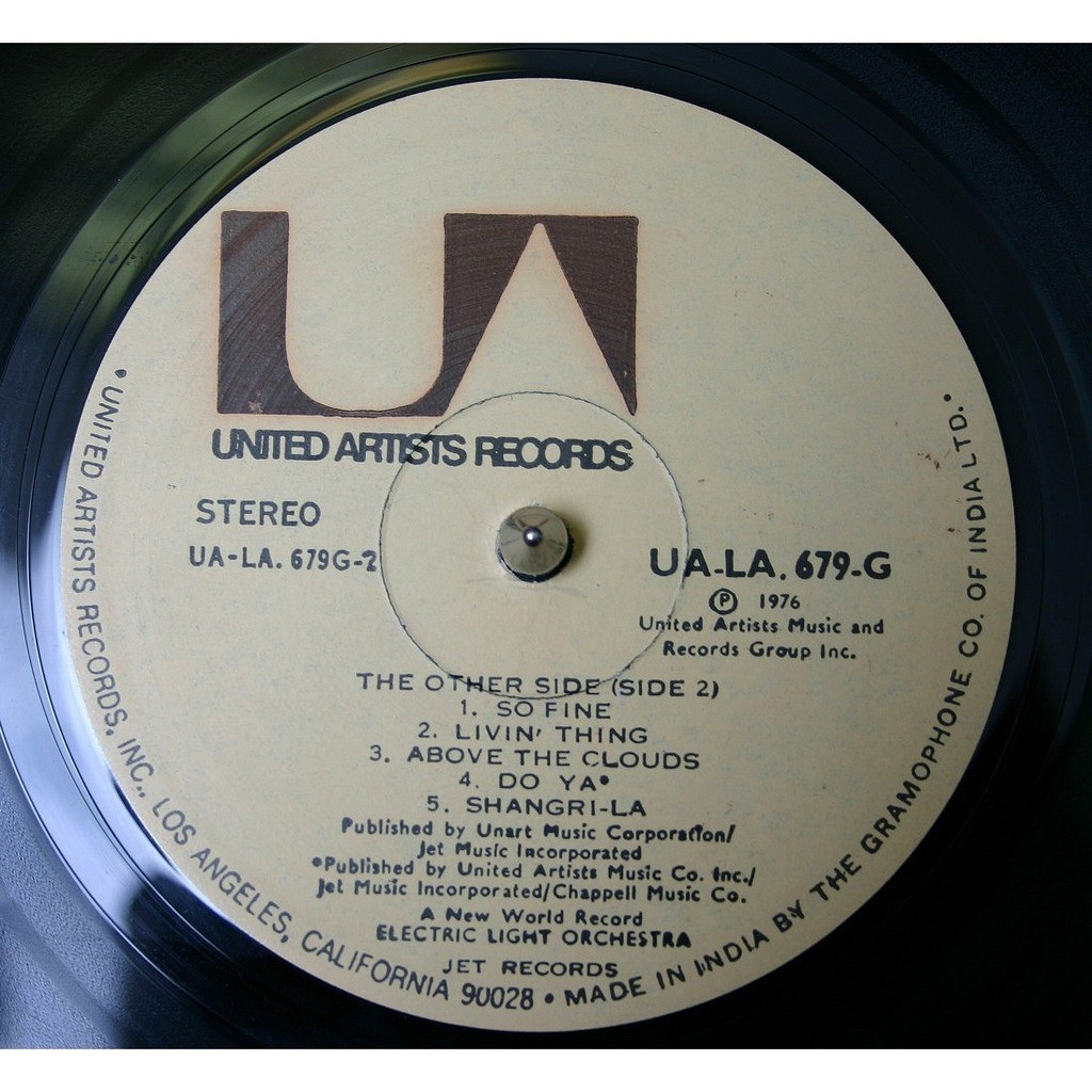 electric light orchestra A New World Record - India