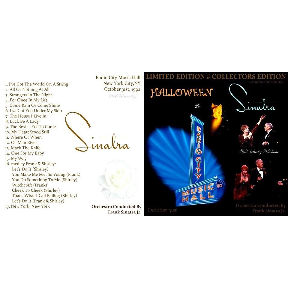 frank sinatra LIVE RADIO CITY MUSIC HALL 1992 OCT LTD CD