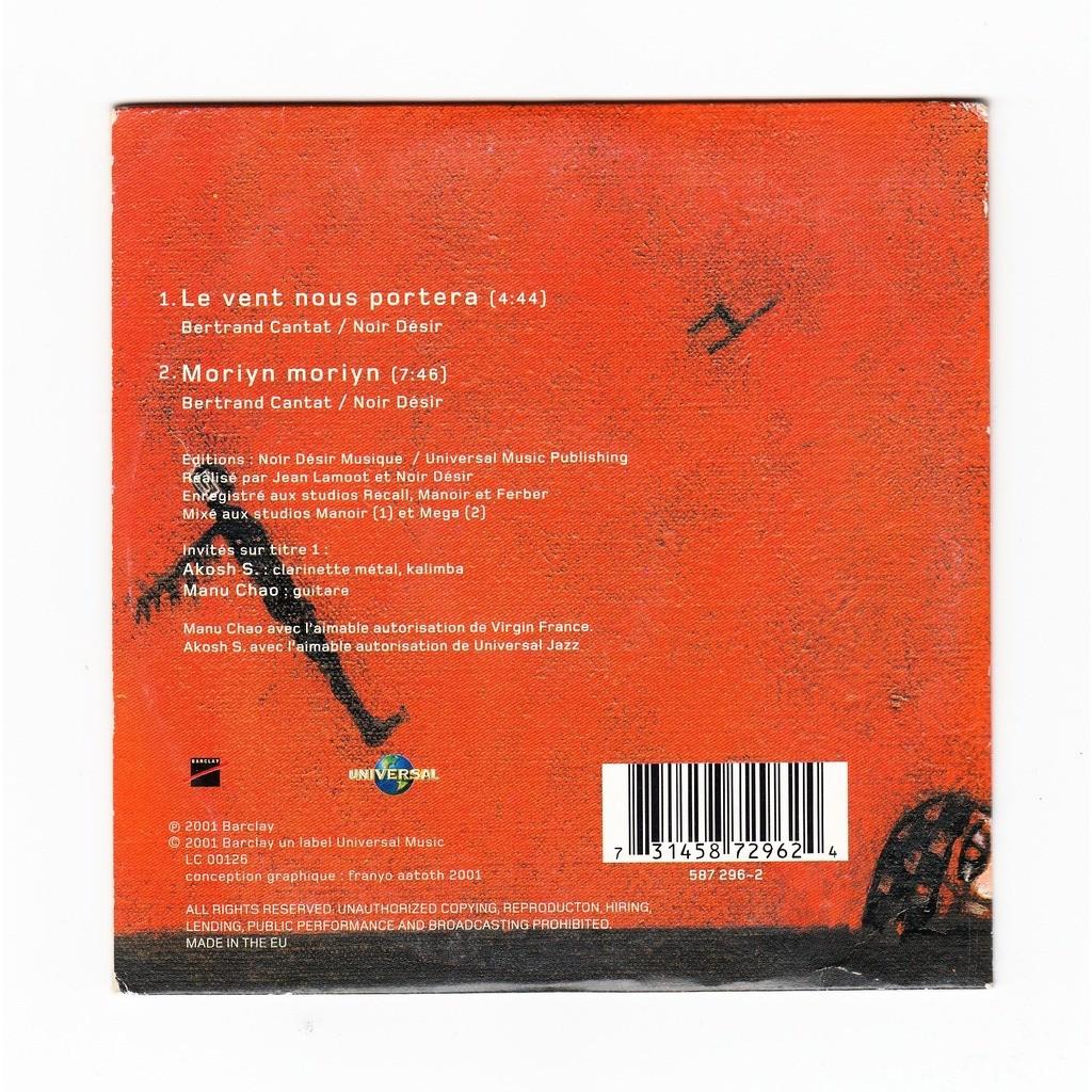 Le vent nous portera de noir d sir cds x 6 chez ouioui14 - Partition guitare le vent nous portera ...