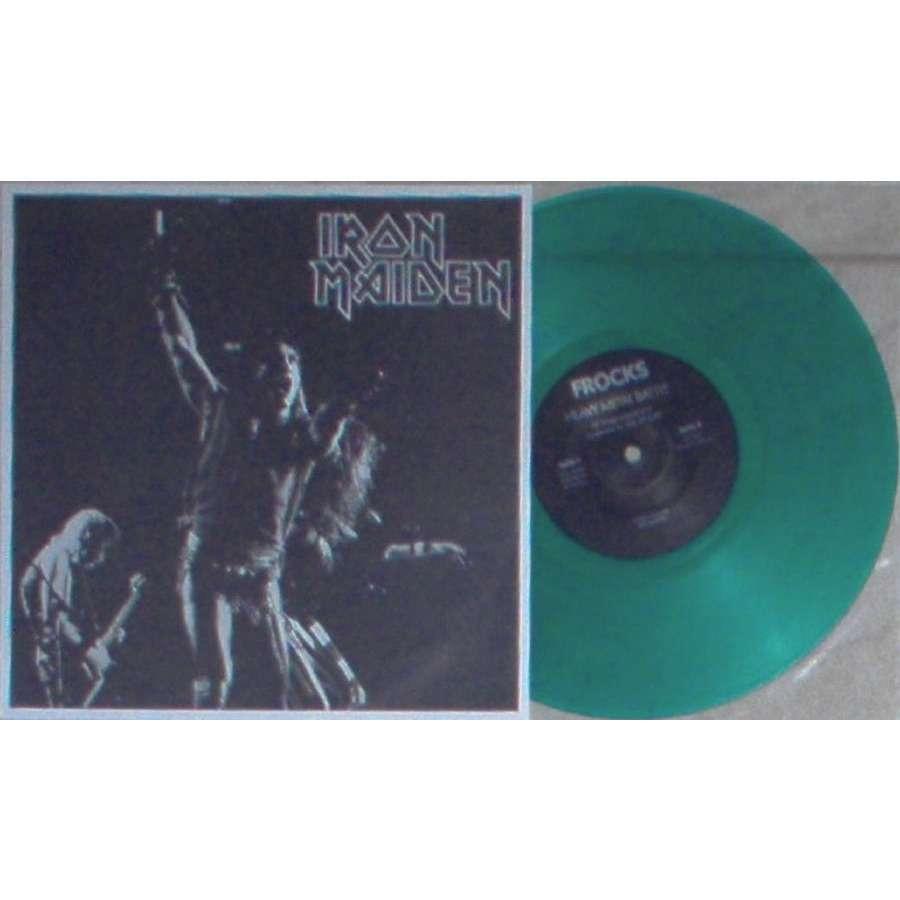 iron maiden Live Rockpop In Concert (Ltd 6-trk live 10inch GREEN vinyl insert sheet ps in PVC plastic slv)