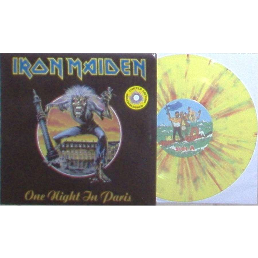 iron maiden One Night In Paris (Ltd 60 copies 3-trk 10EP MULTICOLOR vinyl ps)