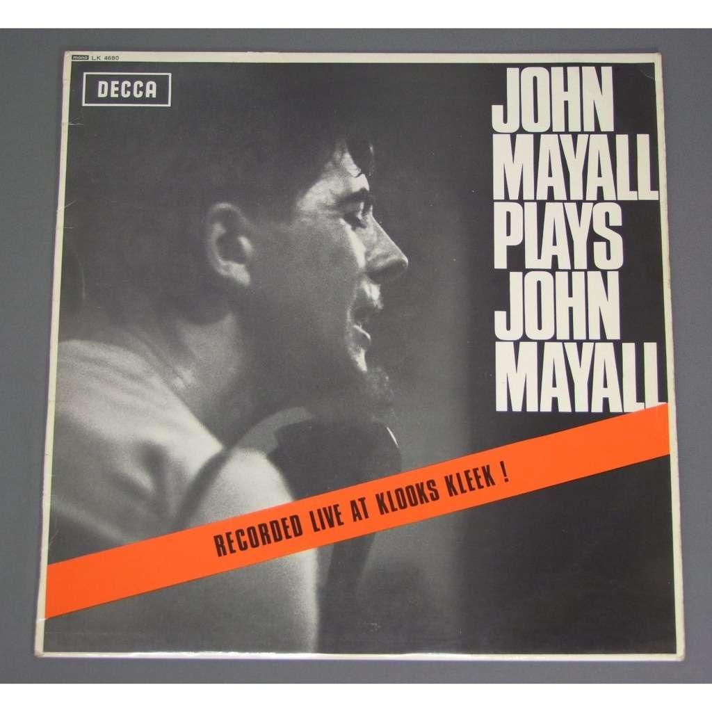 john mayall john mayall plays john mayall live at klooks kleek