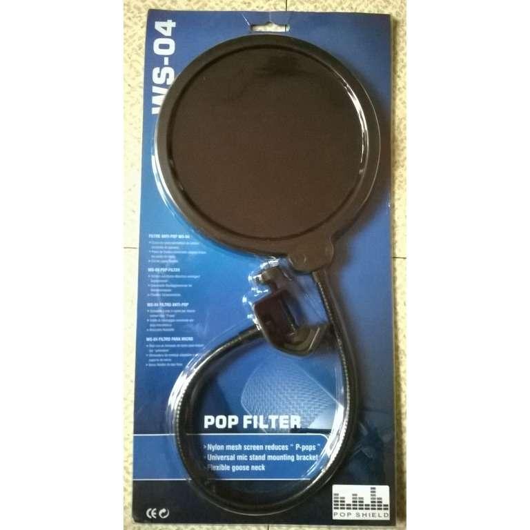 Pop Filter - Filtre anti-vent et anti-pop WS-04 - (neuf)