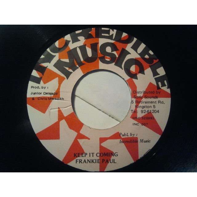 FRANKIE PAUL KEEP IT COMING / VERSION ORIG.