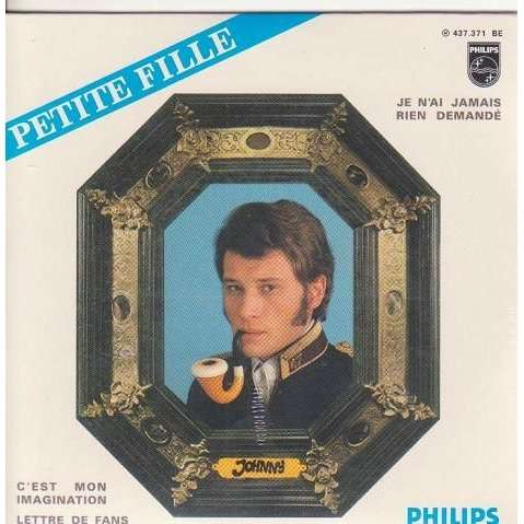 Johnny HALLYDAY Petite fille 4-track EP REPLICA CARD SLEEVE 9804