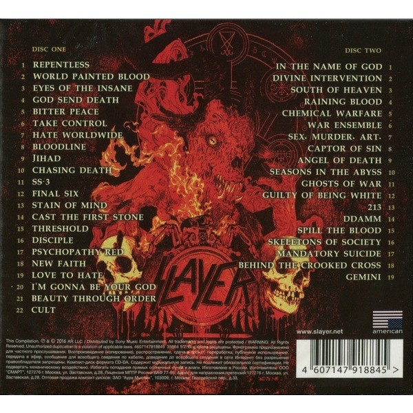 SLAYER greatest hits (2xcd) ltd edit digipack -russie, CD X 2 for