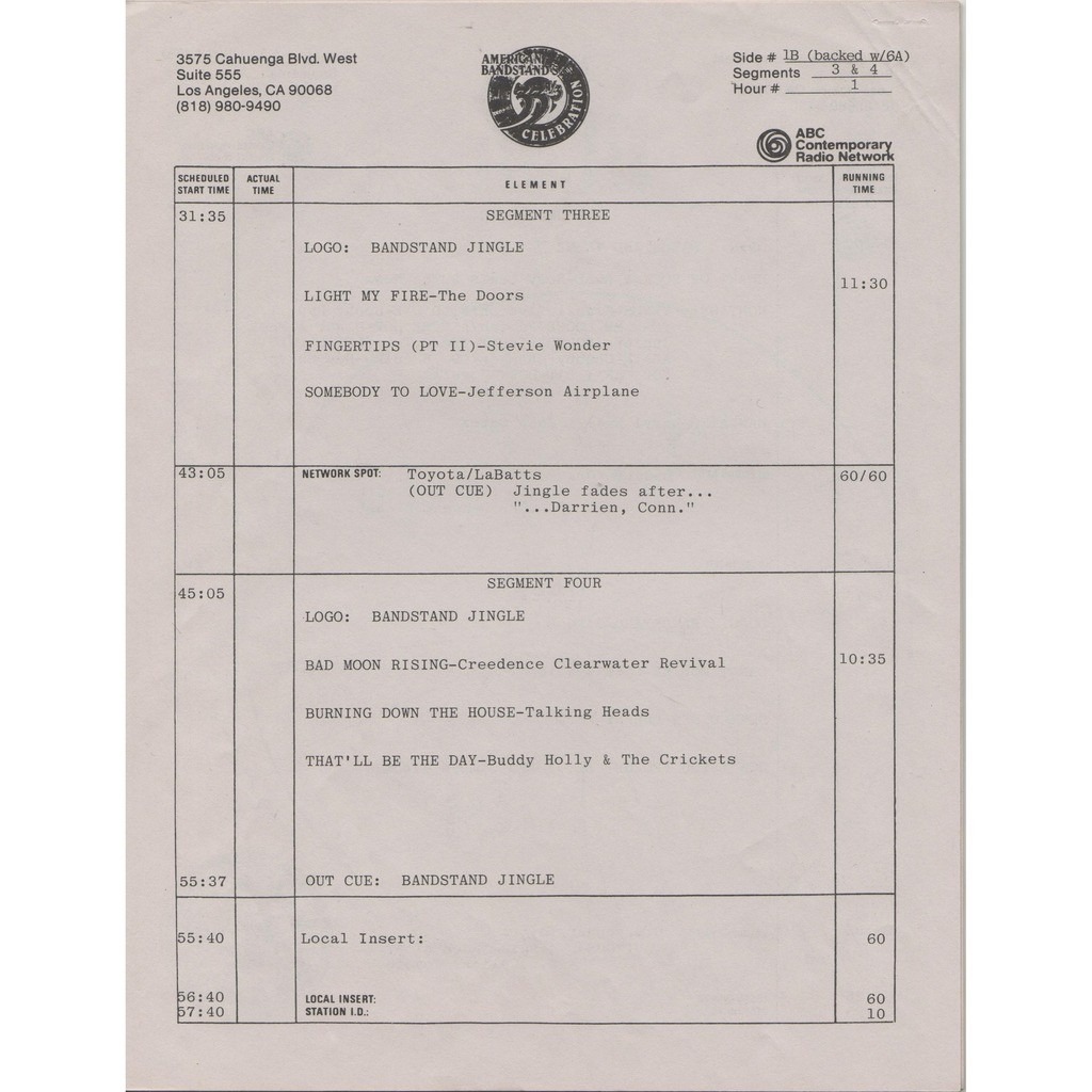Talking Heads American Bandstand's Celebration (USA 1985 promo 'ABC' 6LP Radio Show Box + cues!!)