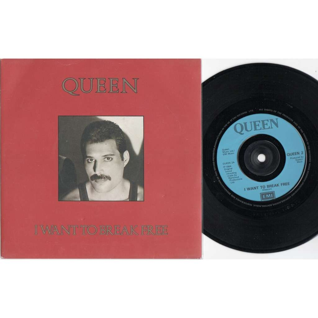 the Queen I Want To Break Free (UK 1984 2-trk 7single unique 'Freddie Mercury' ps)