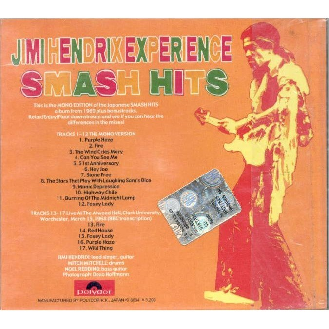 Smash hits (japan mono version & worchester 15 03 1968) by Jimi Hendrix, CD  with gmvrecords