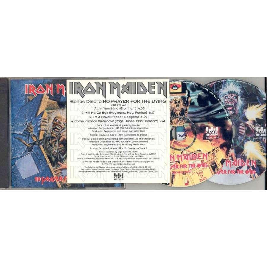 iron maiden No Prayer For The Dying (USA 1995 Ltd CD album & bonus 4-trk CD PDK ps & insert)