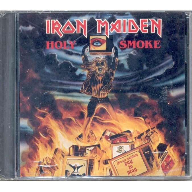 iron maiden Holy Smoke (USA 1990 1-trk promo CD unique back ps-sealed copy!!)