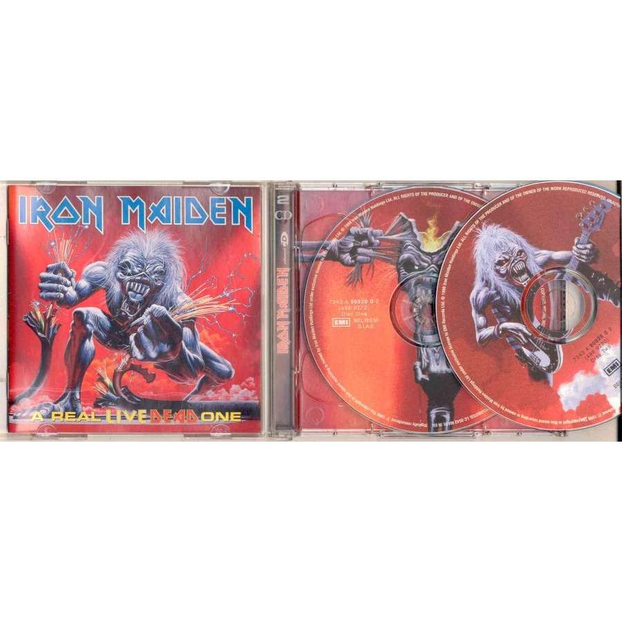 iron maiden A Real Live Dead One (Italian 1998 Ltd 24-trk enhanced 2CD Picture Disc ps & booklet)