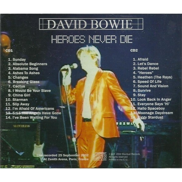 David Bowie Heroes Never die (2xcd)