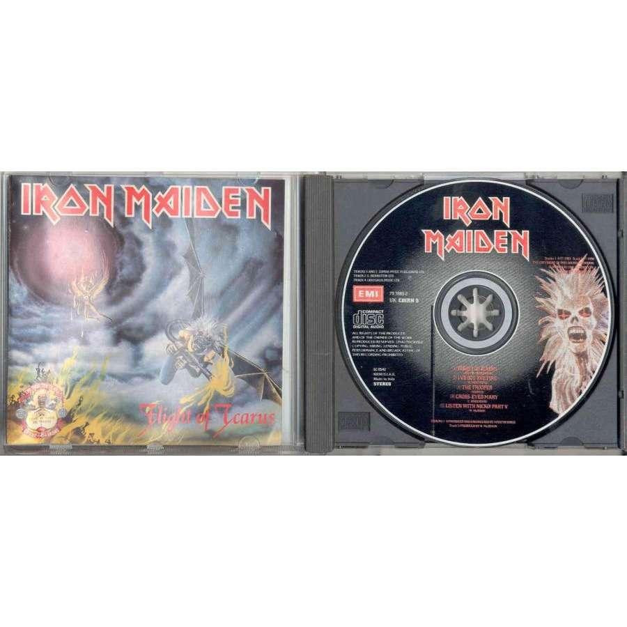 iron maiden Flight Of Icarus / The Trooper (Italian 1990 Ltd 'First 10 Years' 5-trk CD full ps)