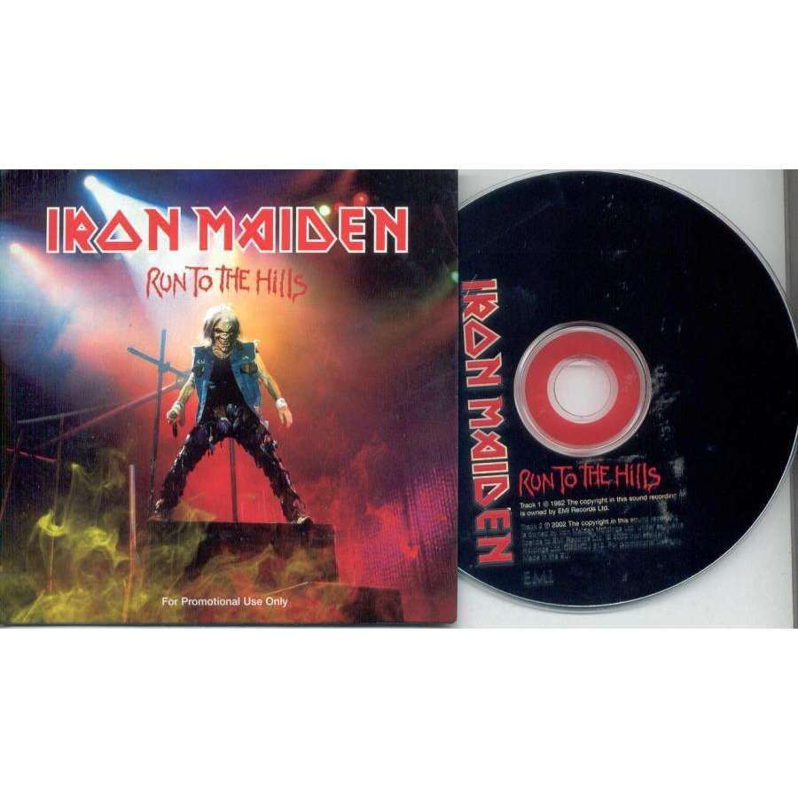 iron maiden Run to the hills (UK 2002 Ltd 2-trk promo CD absolutely unique card ps)