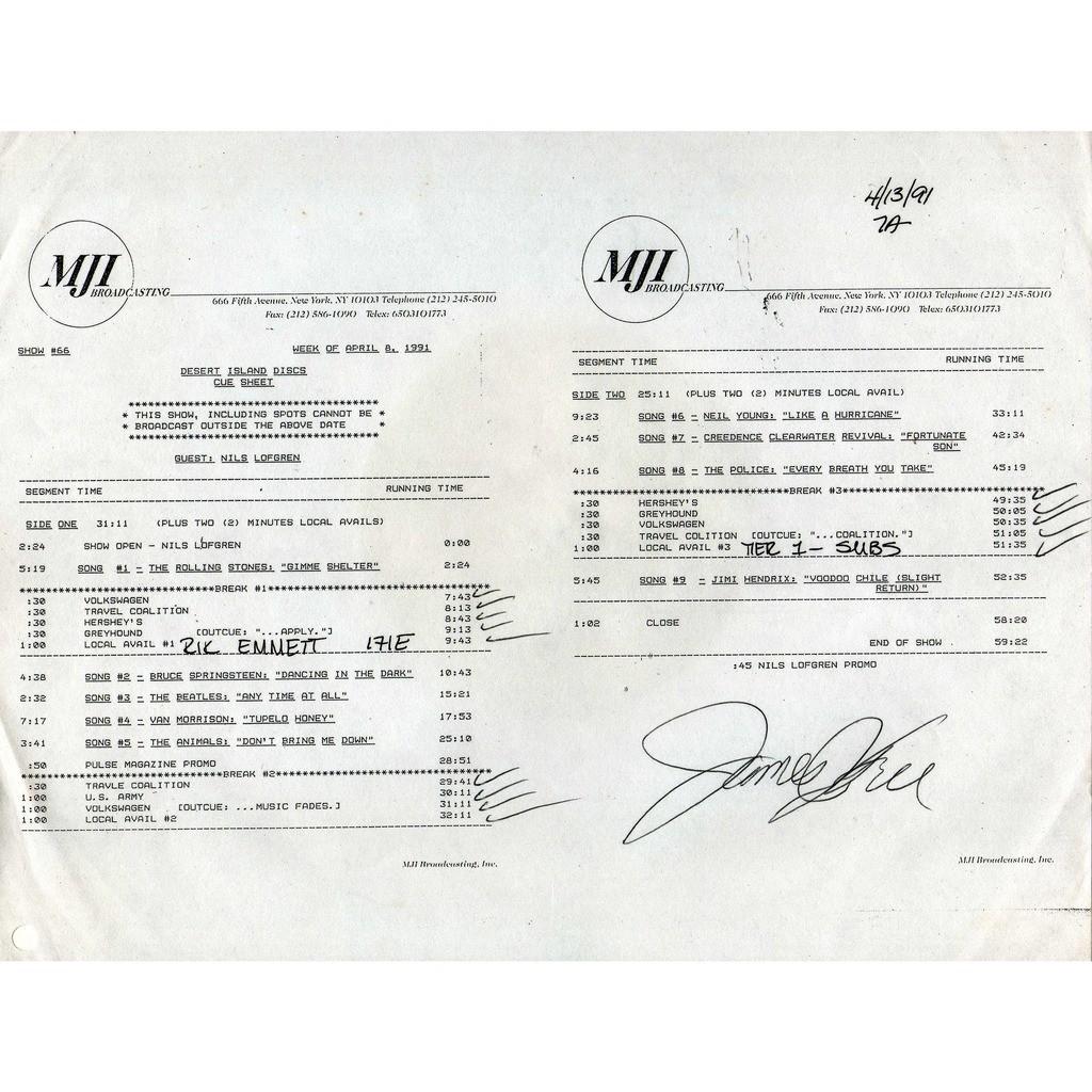 Beatles Desert Island Discs Show #66 (USA 1991 Ltd promo 'MJI' LP BROWN wax Radio Show + cues)