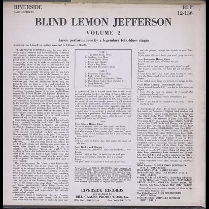 blind lemon jefferson volume 2