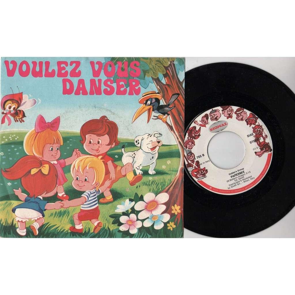 Hobby's Group Voulez Vous Danser (Italian 1984 2-trk 7single full ps)
