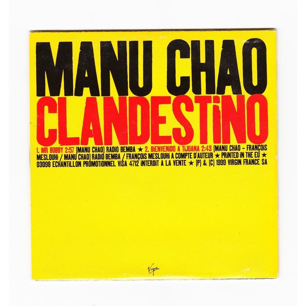 Clandestino - promo de Manu Chao, CDS chez ouioui14 - Ref ...