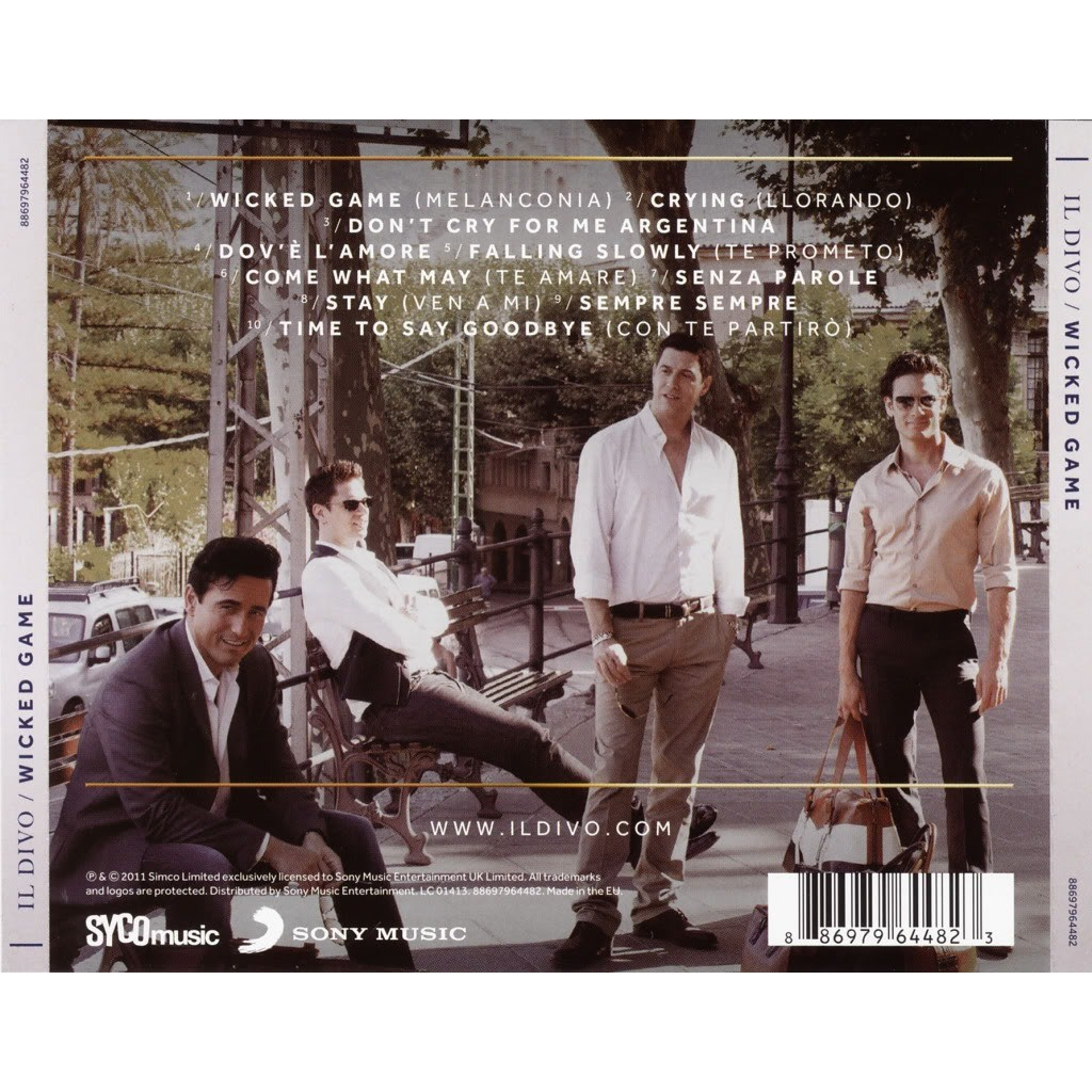 Wicked game by il divo cd with techtone11 ref 118112318 for Il divo cd list