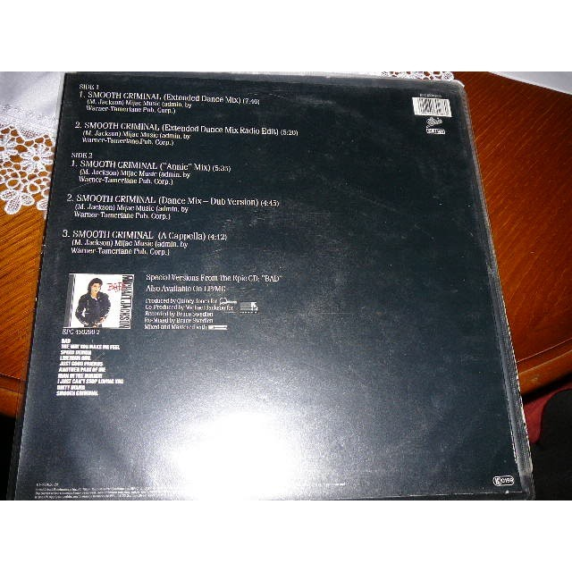 Smooth criminal by Michael Jackson, 12inch with bruno30