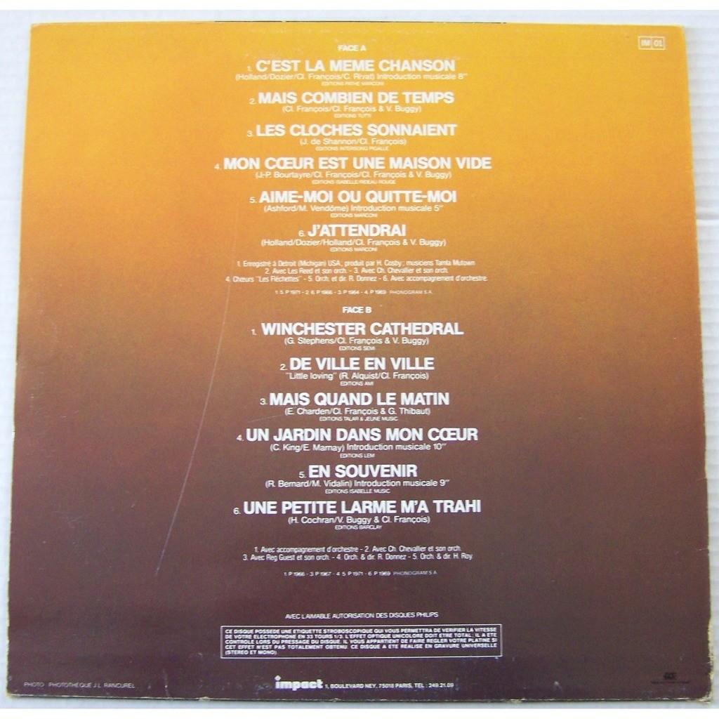claude françois LP collection impact disque d'or c'est la même chanson