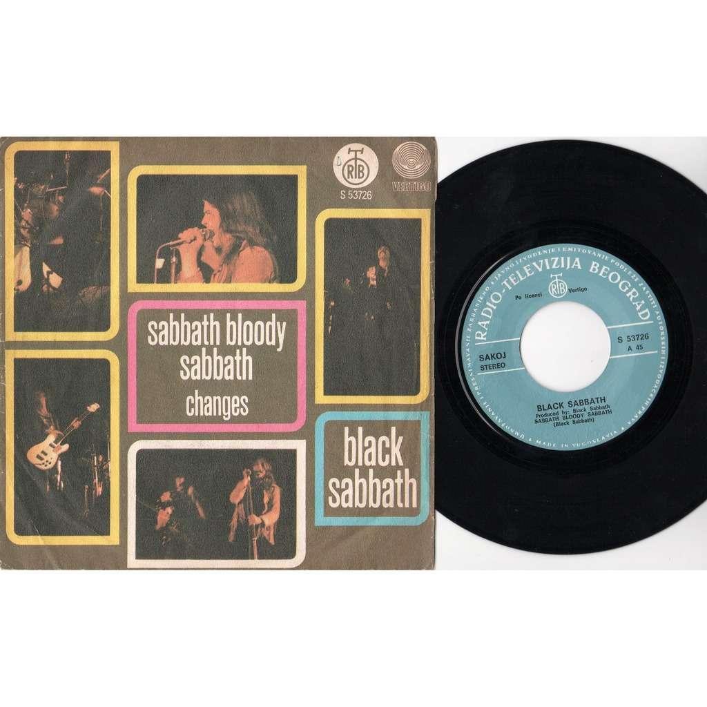 Black Sabbath Sabbath bloody Sabbath (Yougoslavia 1973 2-trk 7single on RTB-Vertigo lbl unique ps)
