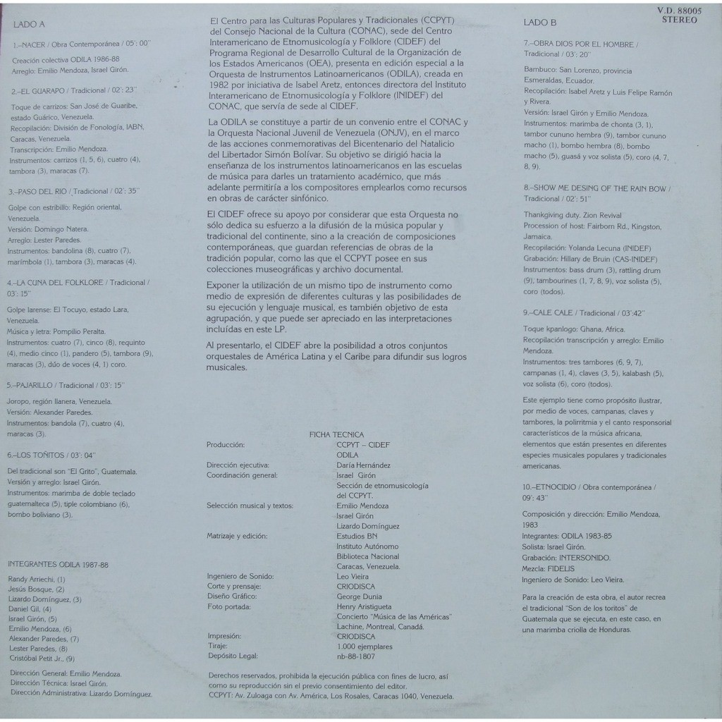 Odila by Odila Orquesta De Instrumentos Latinoamericanos, LP with mabuse