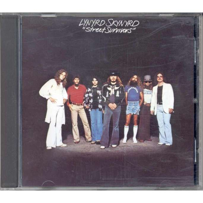 Lynyrd Skynyrd Street Survivors (German 90s original 8-trk CD album  'censored' ps)