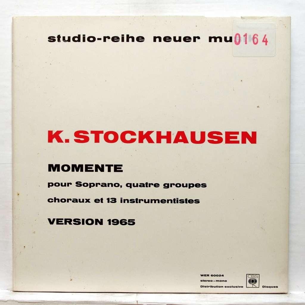 Stockhausen Momente By Stockhausen Lp Gatefold With