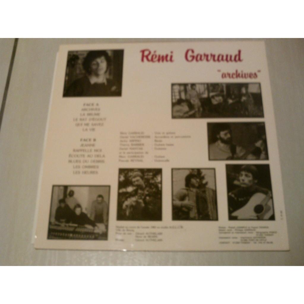 REMI GARRAUD (remo gary) archives