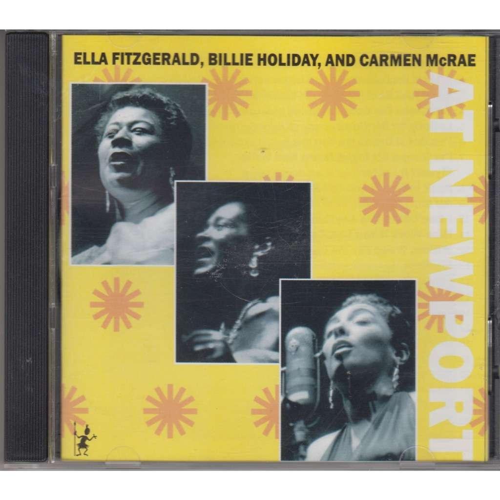 Ella Fitzgerald And Billie Holiday At Newport