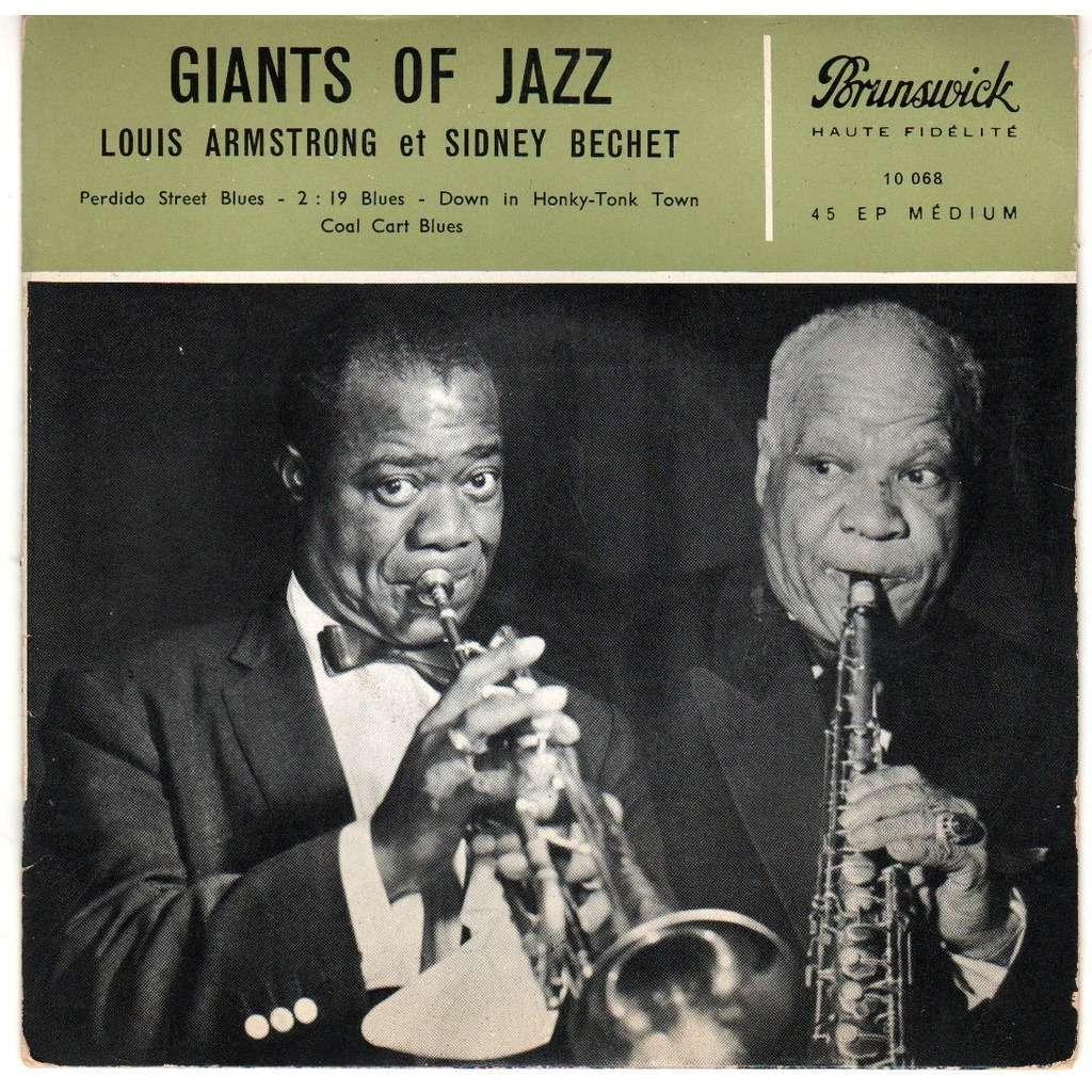 louis armstrong et sidney bechet giants of jazz (Perdido Street Blues'/ 2 : 19 Blues/Coal Cart Blues/ Down In Honky -Tonk Town )
