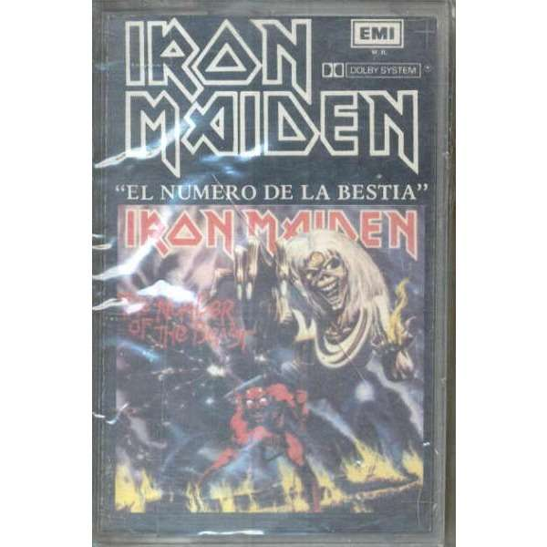 iron maiden El numero de la bestia (Chile 1982 original cassette album unique ps)