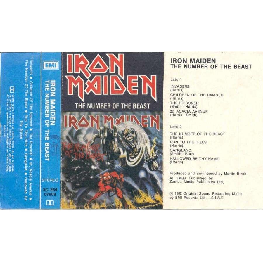 iron maiden The number of the beast (Italian 1982 original ps for Cassette album)
