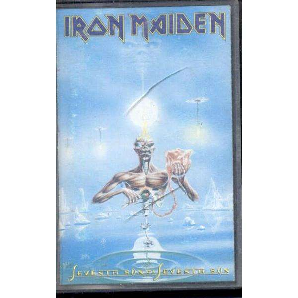 iron maiden Seventh Son Of A Seventh Son (Italian 1988 2nd issue 8-trk Cassette album on clear plastic lbl ps)