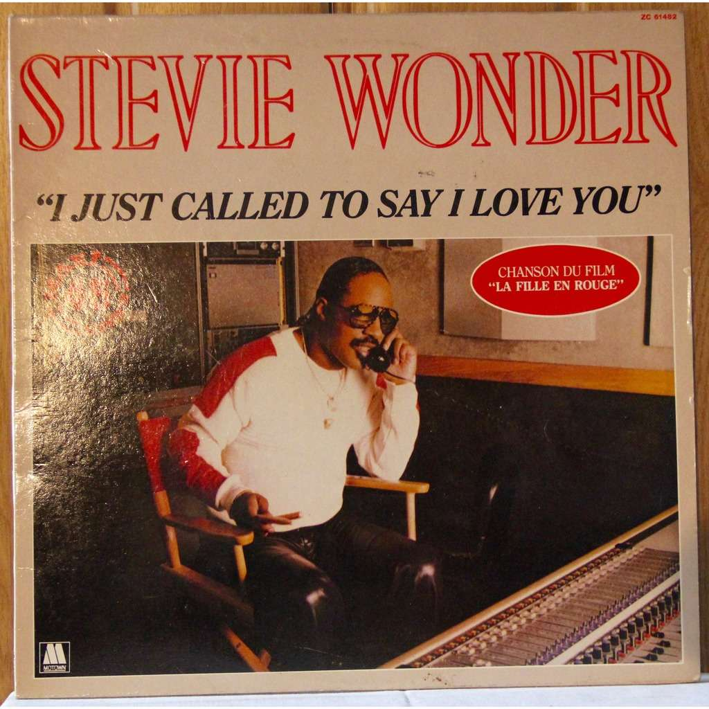 I Just Called To Say I Love You By Stevie Wonder Lp With