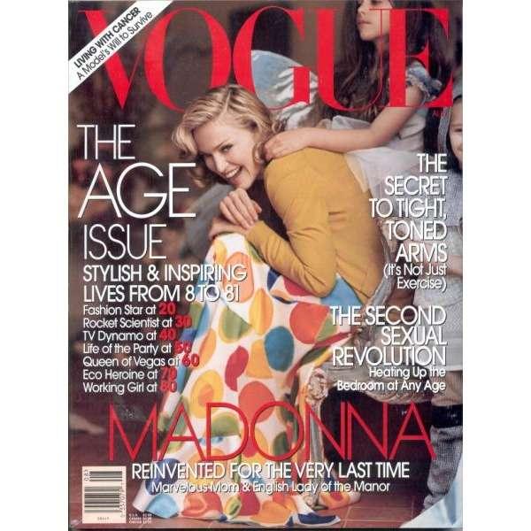 vogue aug 2005 usa 2005 madonna front cover magazine madonna