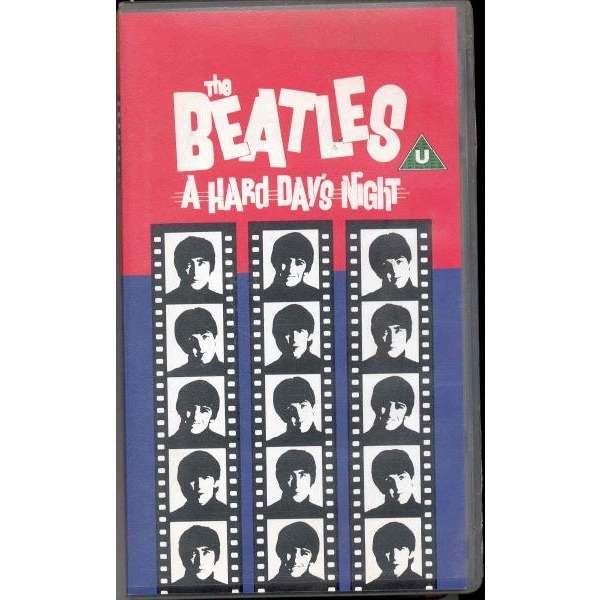 the beatles A hard day's night (UK 1992 VHS film release nice ps)